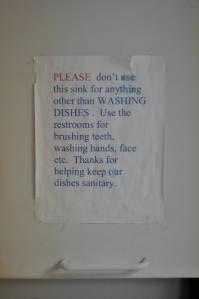 washingdishes,brushingteeth
